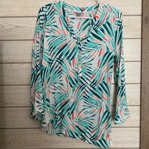 Tropical Print Tunic Size M